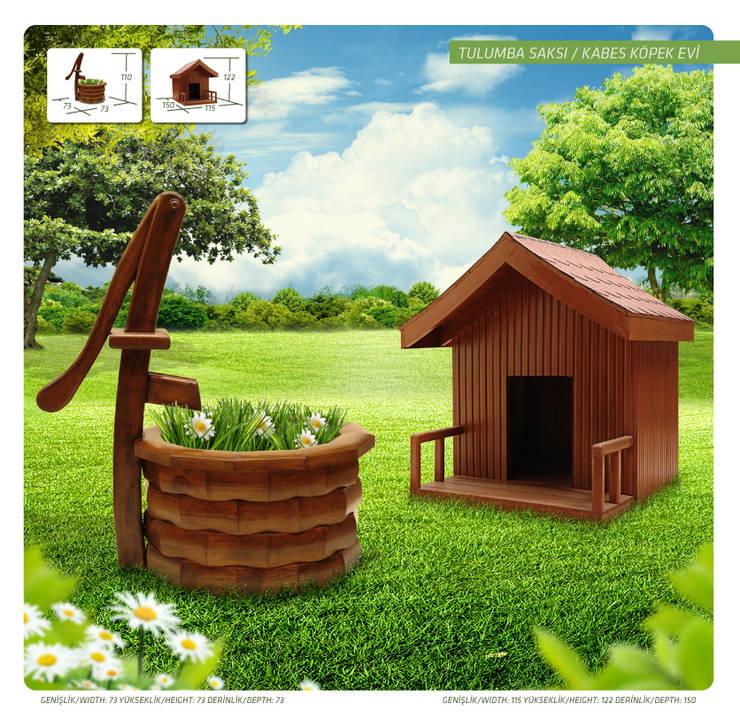 Otantik Çarşı – Tulumba Saksı ve Kabes Köpek Evi: akdeniz tarzı tarz Bahçe