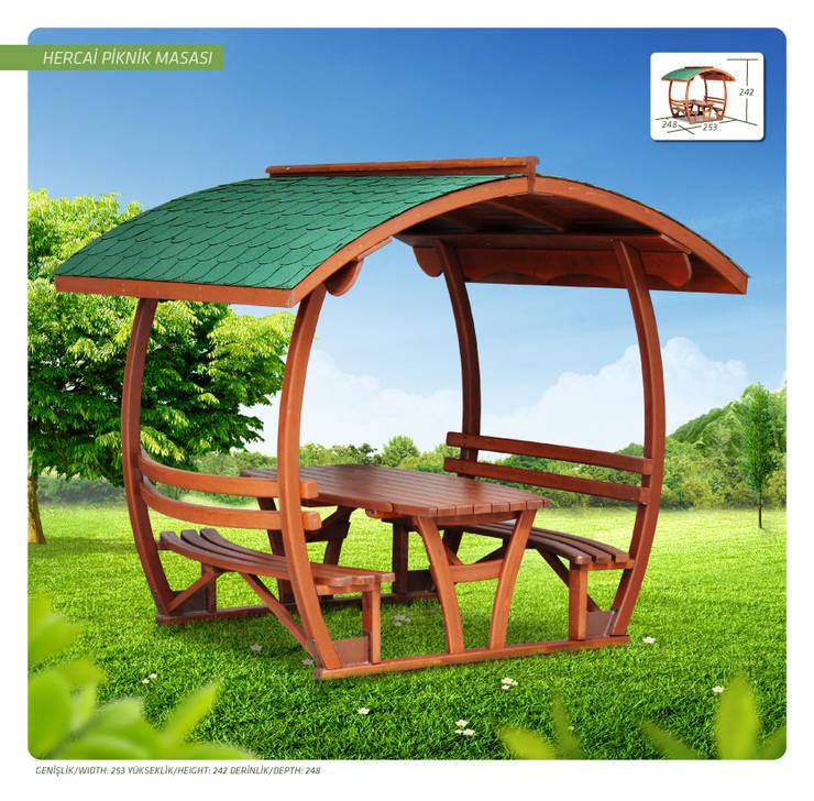 Otantik Çarşı – Hercai Piknik masası:  tarz Bahçe