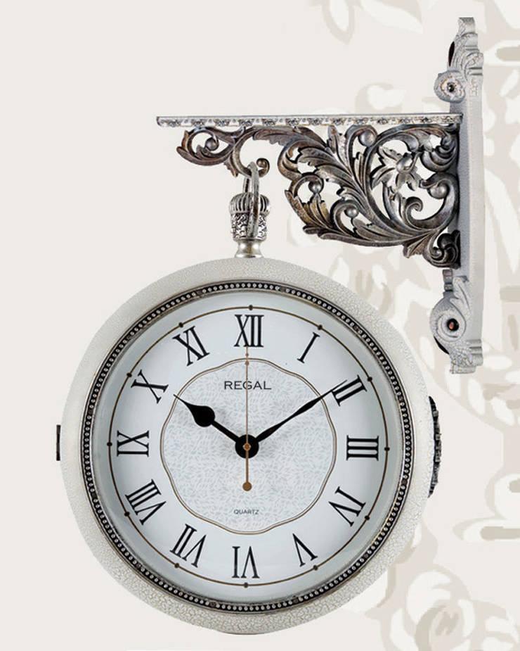 Otantik Çarşı – İstasyon Duvar Saatleri: akdeniz tarzı tarz Duvar & Zemin