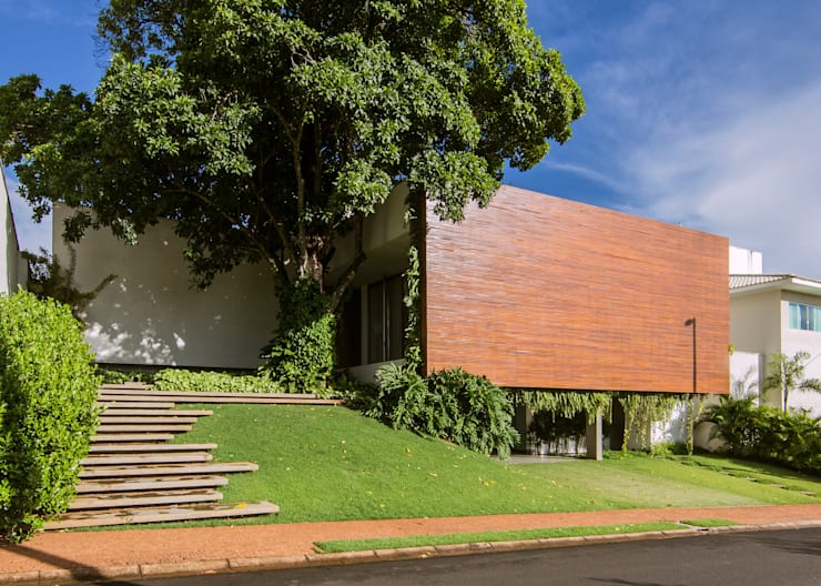 Casas de estilo  por Felipe Bueno Arquitetura