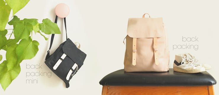 Backpacking Mini // Backpacking:   door Puc, Minimalistisch Leer Grijs