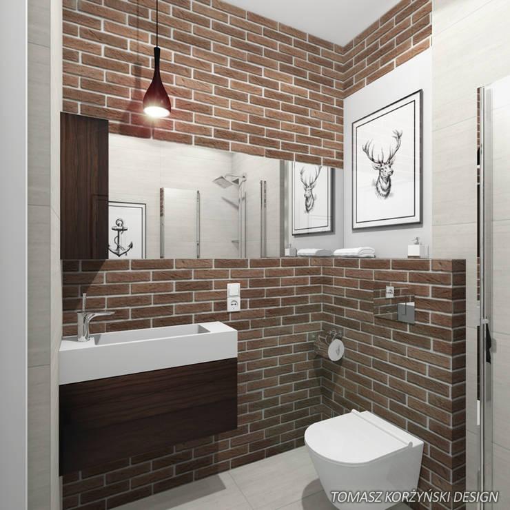 Projekt łazienki : styl , w kategorii Łazienka zaprojektowany przez Tomasz Korżyński Design,