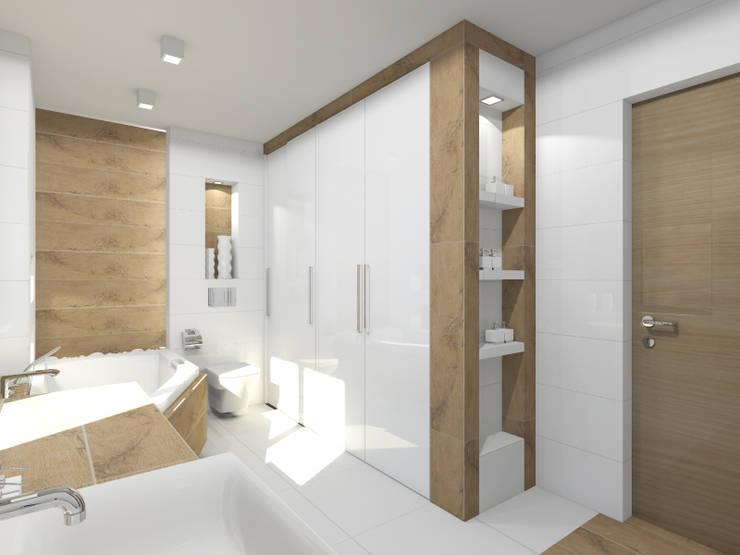 Projekt łazienki: styl , w kategorii Łazienka zaprojektowany przez Tomasz Korżyński Design,Nowoczesny Płytki