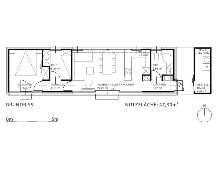 Moving House - Grundriss:   von Pilzarchitektur