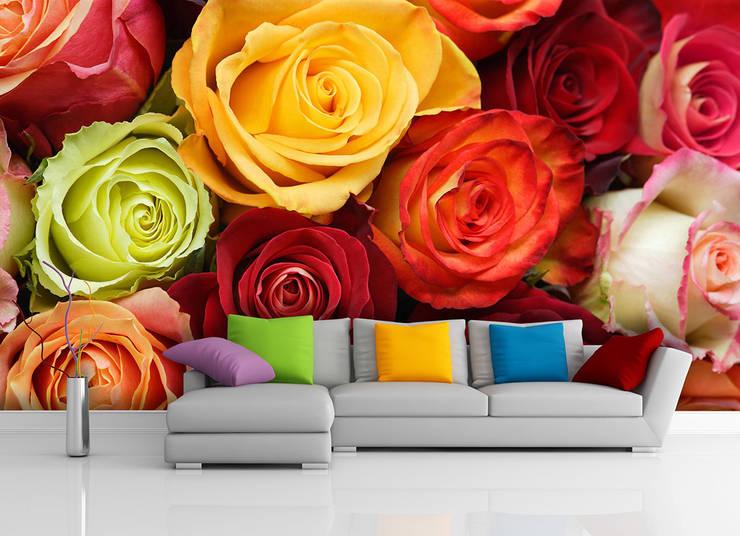 ARTMODEL – Çiçekler Serisi Resimli Duvar Kağıtları (DVC-03):  tarz Duvar & Zemin