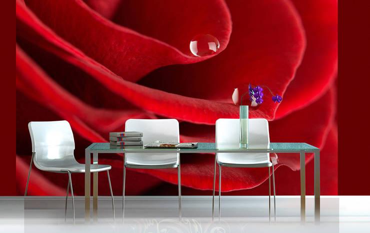 ARTMODEL – Kırmızı Gül Özel Baskılı Duvar Kağıdı (DVC-07):  tarz Duvar & Zemin