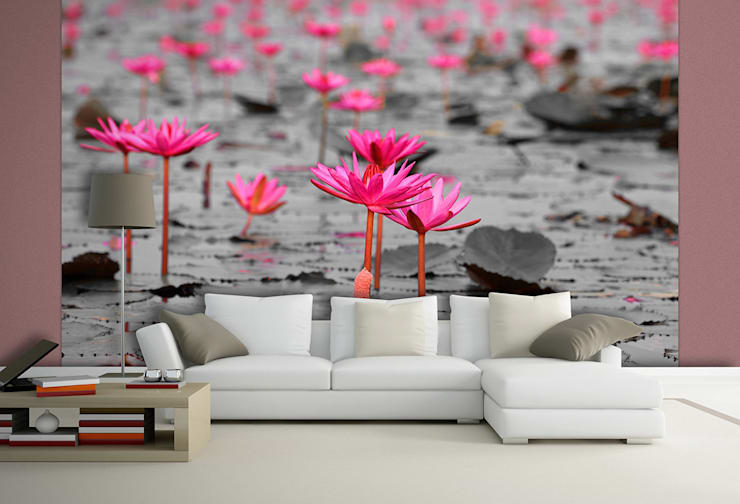 ARTMODEL – Pembe Çiçekler Duvar Kağıdı (DVC-11):  tarz Duvar & Zemin