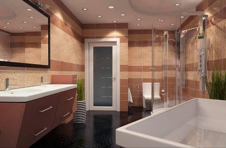 Современная квартира: Ванные комнаты в . Автор – Студия дизайна и декора Алины Кураковой