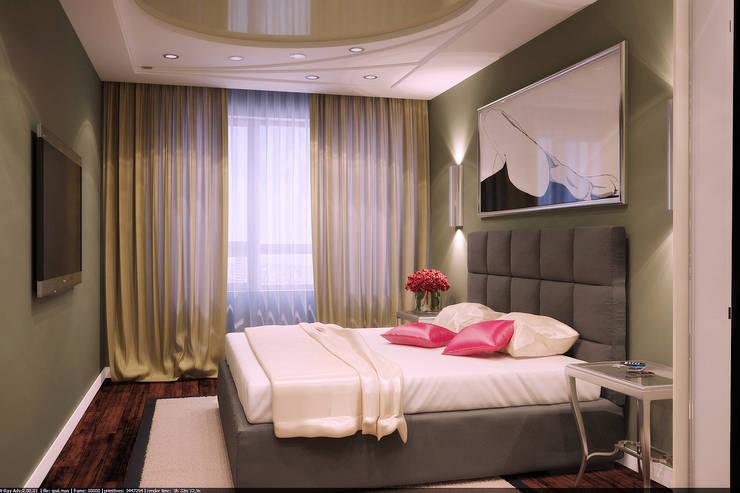 Современная квартира: Спальни в . Автор – Студия дизайна и декора Алины Кураковой