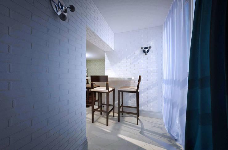 Современная квартира: Tерраса в . Автор – Студия дизайна и декора Алины Кураковой