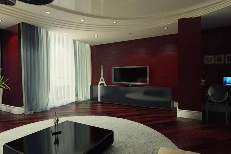 Современная квартира: Гостиная в . Автор – Студия дизайна и декора Алины Кураковой