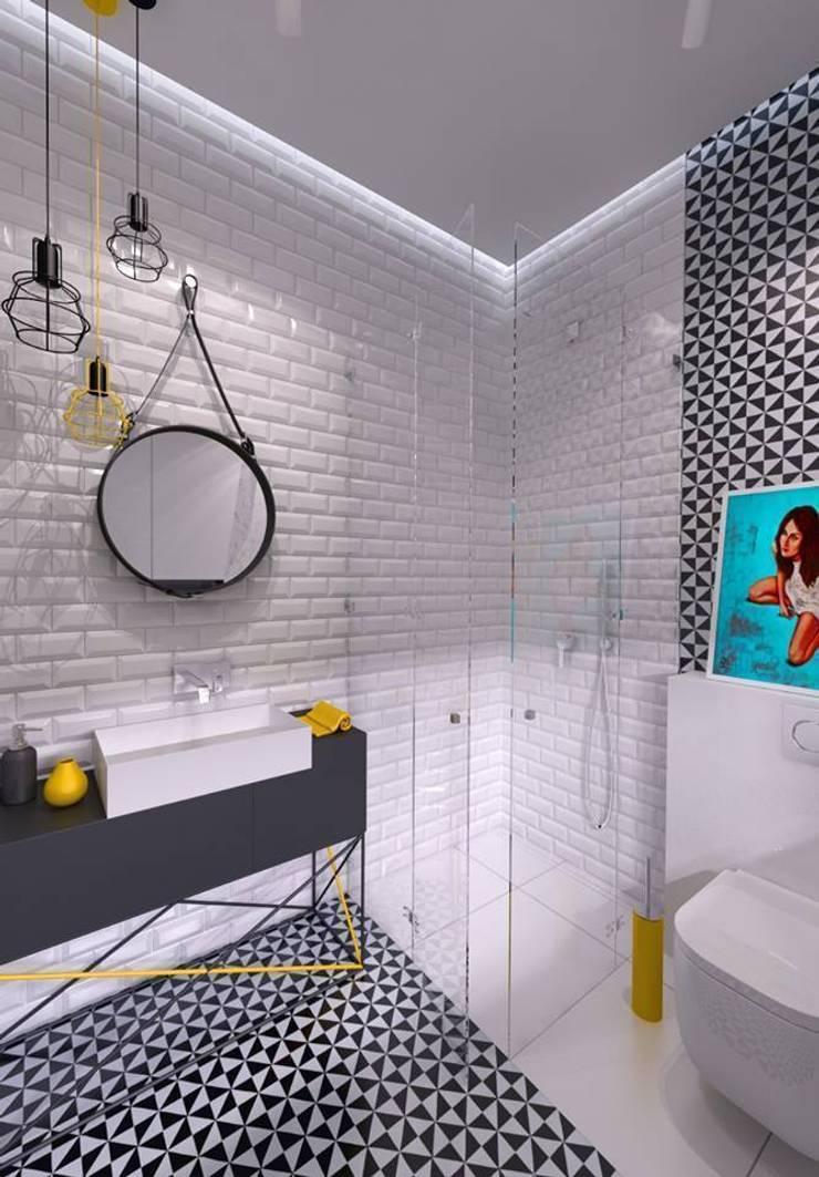 Mieszkanie na wynajem 31m2 Warszawa-Opcja I: styl , w kategorii Łazienka zaprojektowany przez The Vibe,