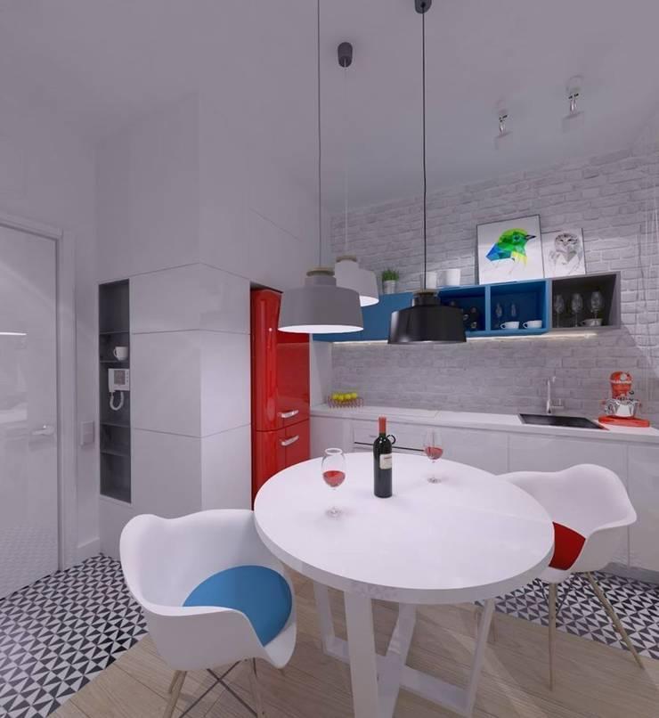 Mieszkanie na wynajem 31m2 Warszawa-Opcja I: styl , w kategorii Kuchnia zaprojektowany przez The Vibe,