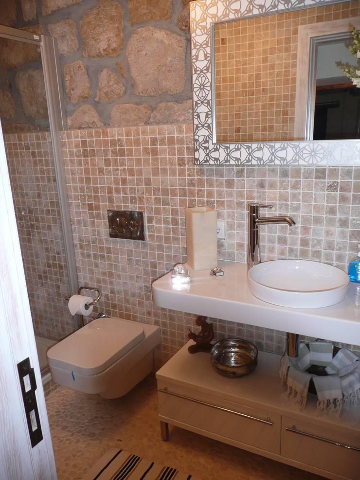EKa MİMARLIK – Adatepe Projesi: rustik tarz tarz Banyo