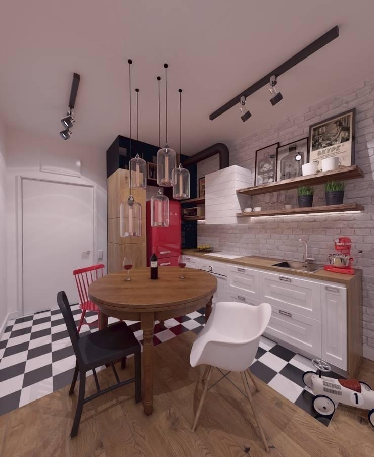 Mieszkanie na wynajem 31m2 Warszawa-Opcja II: styl , w kategorii Kuchnia zaprojektowany przez The Vibe