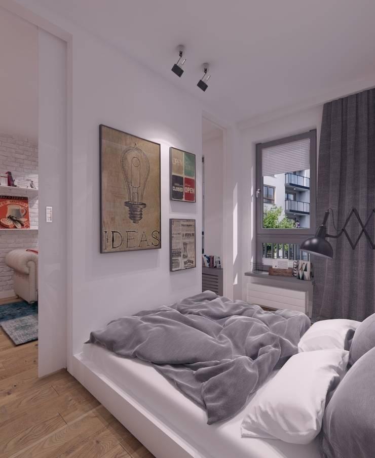 Mieszkanie na wynajem 31m2 Warszawa-Opcja II: styl , w kategorii Sypialnia zaprojektowany przez The Vibe