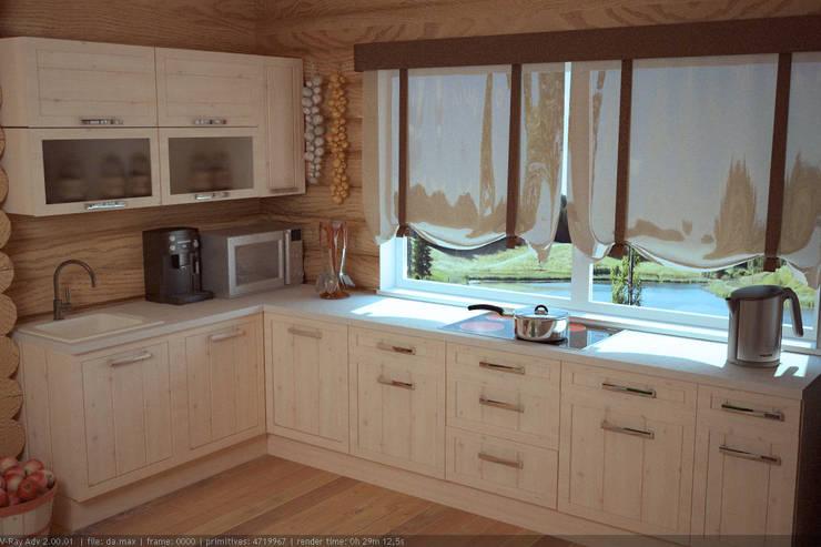Загородный дом: Кухни в . Автор – Студия дизайна и декора Алины Кураковой