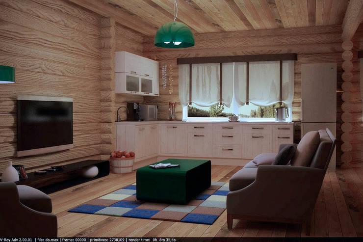 country Kitchen by Студия дизайна и декора Алины Кураковой
