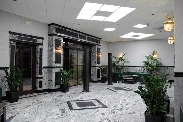Офисное здание : Офисные помещения в . Автор – Студия дизайна и декора Алины Кураковой