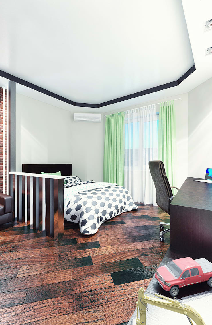 комната для маленького футболиста: Детские комнаты в . Автор – Студия дизайна и декора Алины Кураковой