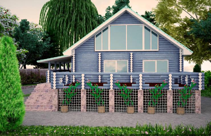 Загородный дом: Дома в . Автор – Студия дизайна и декора Алины Кураковой