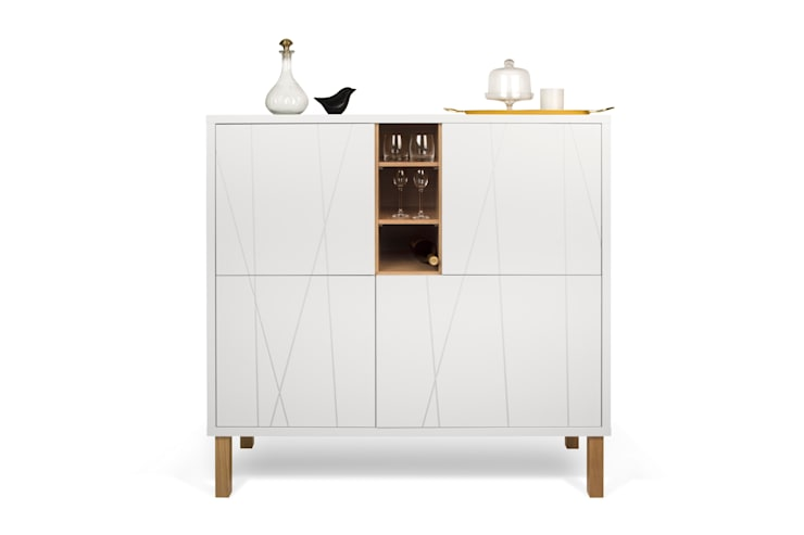 Niche with pattern cupboard - with legs: Sala de jantar  por Temahome
