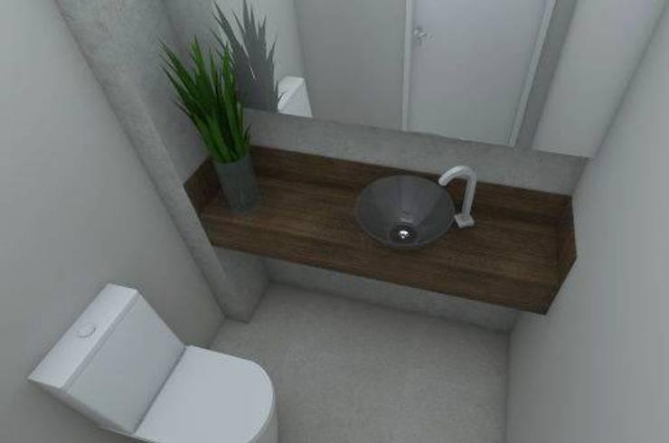 APARTAMENTO MI: Banheiros  por ESTUDIO ARK IT