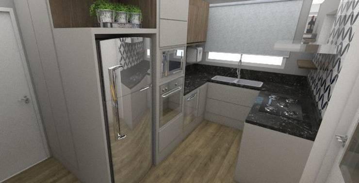 APARTAMENTO MI: Cozinhas modernas por ESTUDIO ARK IT