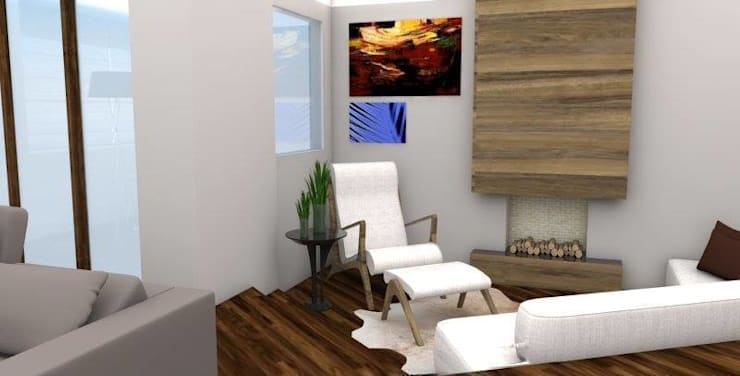 APARTAMENTO RT: Salas de estar modernas por ESTUDIO ARK IT
