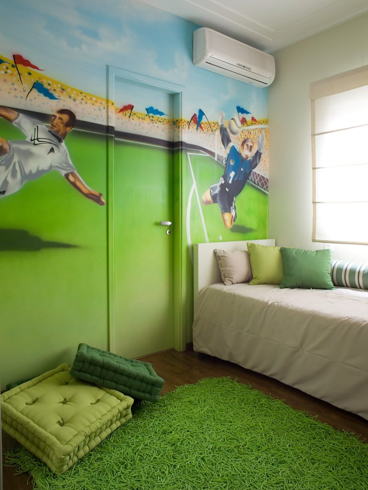 Phòng trẻ em theo Flávia Brandão - arquitetura, interiores e obras, Hiện đại