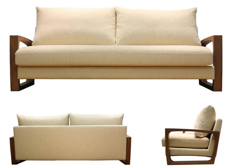 Sofa POUND: 株式会社 3rdが手掛けたリビングです。