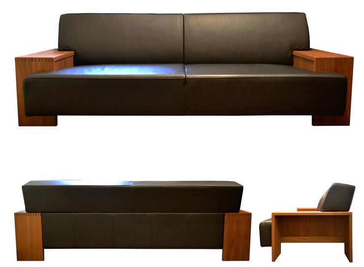 Sofa SQUARE: 株式会社 3rdが手掛けたリビングです。