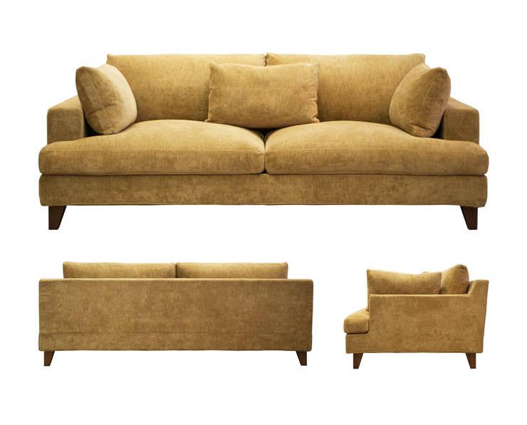 Sofa AMPLE: 株式会社 3rdが手掛けたリビングです。