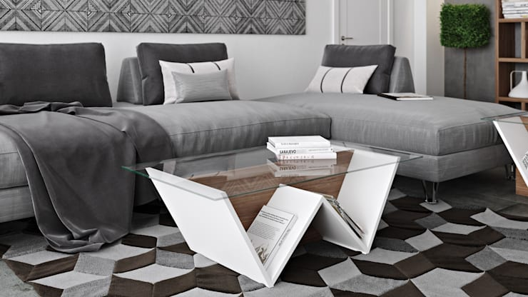 Walt coffee table: Sala de estar  por Temahome