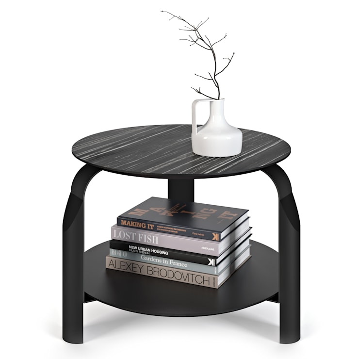 Scale side table: Sala de estar  por Temahome
