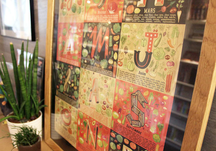 3d8a72e300b Affiche - Calendrier des fruits et légumes de saison  Art de style par  claire-