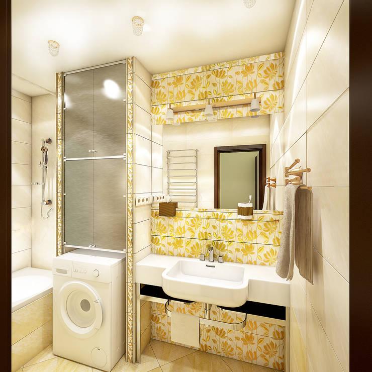 Двухкомнатная квартира: Ванные комнаты в . Автор – Студия 'Облако-Дизайн'