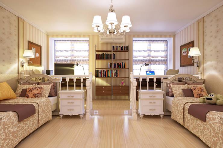 Двухкомнатная квартира: Детские комнаты в . Автор – Студия 'Облако-Дизайн'