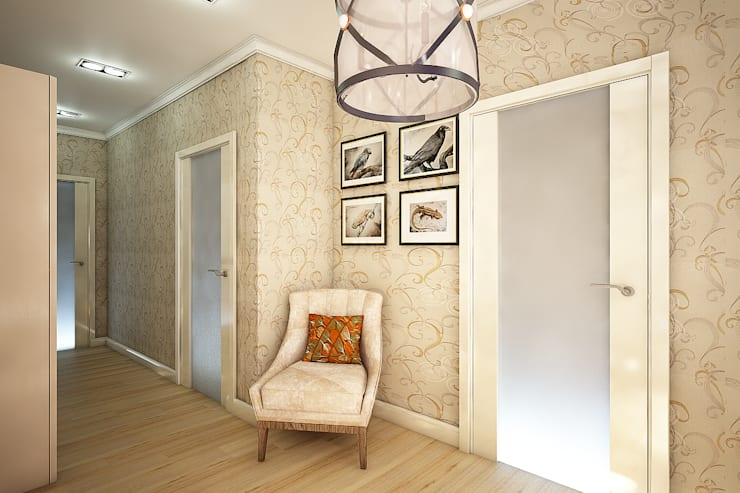 Corridor and hallway by Студия 'Облако-Дизайн',