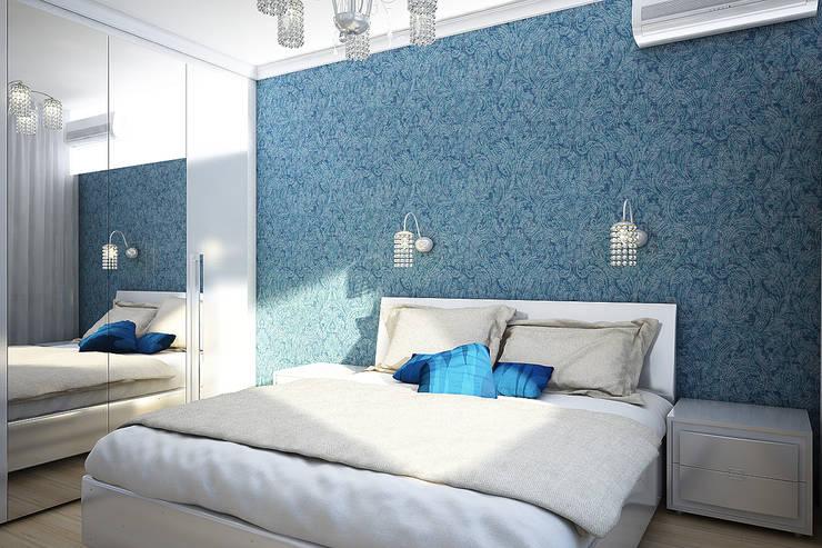 Двухкомнатная квартира: Спальни в . Автор – Студия 'Облако-Дизайн'