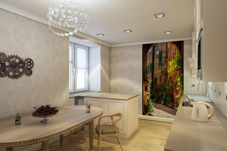 Двухкомнатная квартира: Кухни в . Автор – Студия 'Облако-Дизайн'