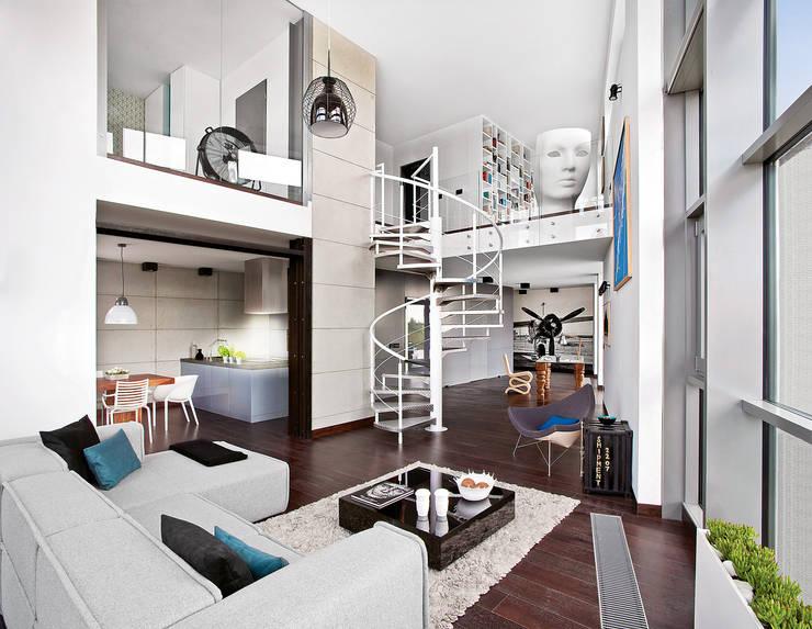 Pasillos y vestíbulos de estilo  por justyna smolec architektura & design