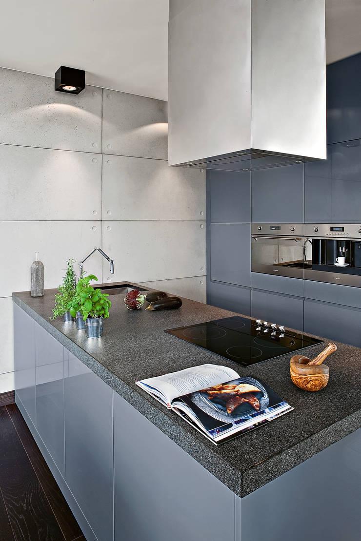 Industrialny Loft : styl , w kategorii Kuchnia zaprojektowany przez justyna smolec architektura & design