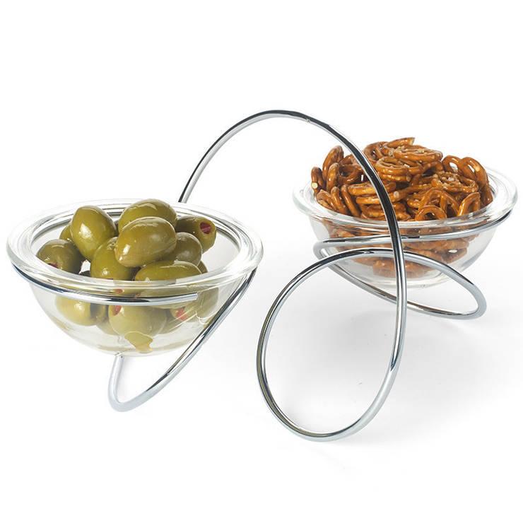 Чаша на подставке двойная Loop: Кухня в . Автор – Enjoyme