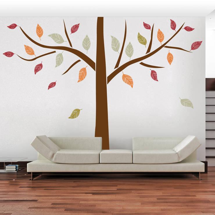 Ethnic Tree: Pareti & Pavimenti in stile in stile Moderno di Crearreda