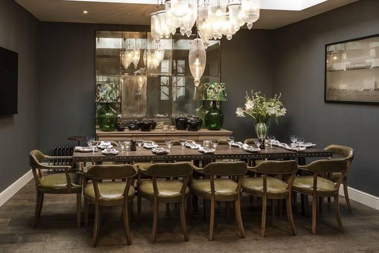 Hotel Dining Room Mirror:  Dining room by Rupert Bevan Ltd