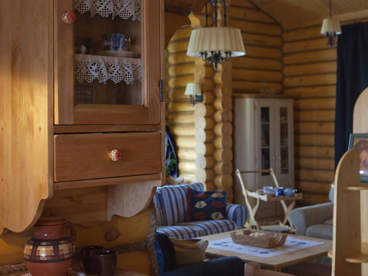 Shachebol House: Гостиная в . Автор – Alena Kazimirava
