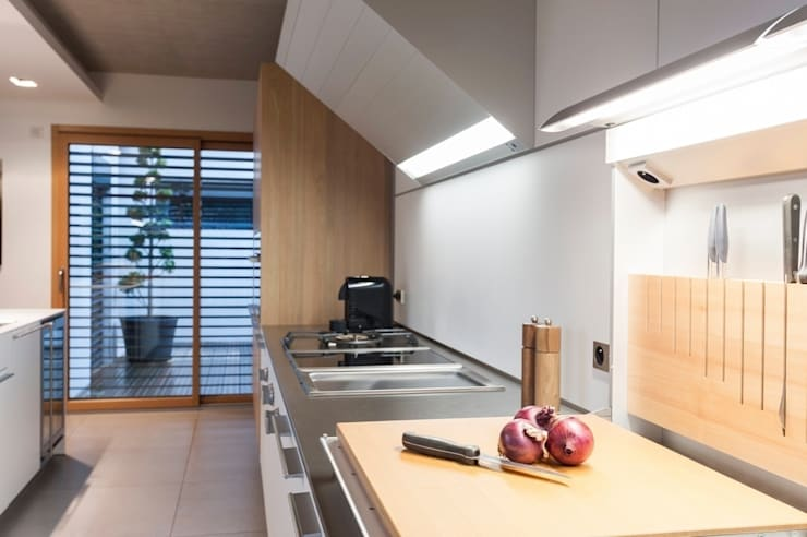 bulthaup b3 suspendue: Cuisine de style  par bulthaup espace de vie Pontarlier