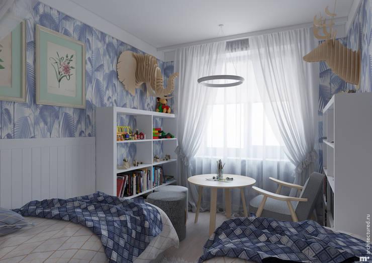 Детская младших детей: Детские комнаты в . Автор – Architectured - мастерская Маргариты Рассказовой,