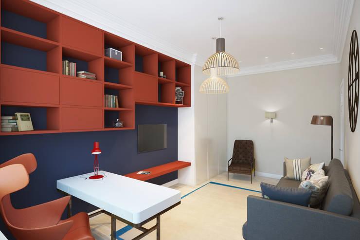 Квартира на ул. Гарибальди: Рабочие кабинеты в . Автор – FAOMI,